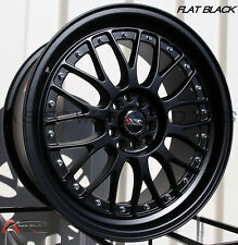18X8.5/10 XXR 521 5x114.3/120mm +25 Black Wheels Fits Hyundai Genesis Coupe 350Z