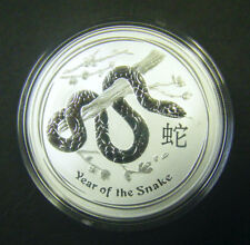 2013 Australian $1 1oz Lunar Year of the Snake Silver coin Perth Mint bullion