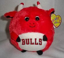 "TY NBA CHICAGO BULLS BEANIE BALL BALLZ 4"" TALL 14"" CIRCUMFERENCE NEW W/TAG"