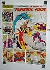 1980 Coca Cola Coke Marvel Comics Origin of the Fantastic Four comic book poster