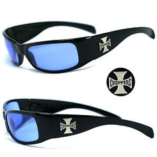 New Choppers Bikers Mens Sunglasses - Blue Lens C11 B