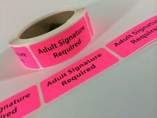 Adult Signature Required Labels/Stickers 250 1.25x3 EBAY Shipping Labels Ebay