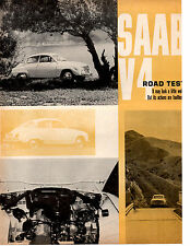 1967 SAAB V4  ~   ORIGINAL 4-PAGE ROAD TEST / ARTICLE /  AD