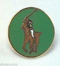 The Sport of Horse Polo Round Quality enamel lapel pin badge