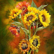 """Canvas Print Oil Painting Picture Impression Sunflower on canvas 16""""x16"""" L720"""