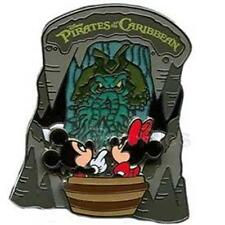 MICKEY+MINNIE PIRATES Of The CARIBBEAN RIDE DAVY JONES Disney SLIDER PIN