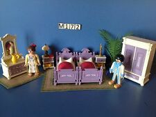 (M172) Playmobil chambre parents 1900 série rose ref 5325 5300