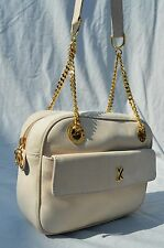 vintage PALOMA PICASSO leather bag 80's never used NOS gold chain shoulder bag