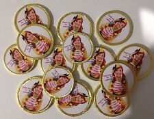 16 x Personalised The Wiggles Emma  Chocolate Birthday Thanku Gold Coins