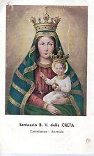 550 Beata Vergine delle Creta    santino holycard