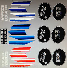 SUZUKI TS125 TS125ER DECAL SET