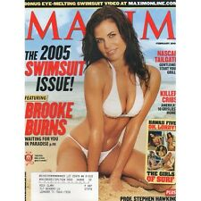 Maxim Magazine February 2005 Brooke Burns 2005 Swimsuit Issue