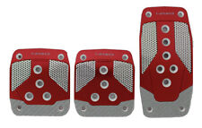 NRG ALUMINUM SPORT PEDAL RED W/SILVER CARBON FOR MANUAL TRANS
