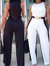 Black White Jumpsuit with Belt LC60303 summer women design rompers