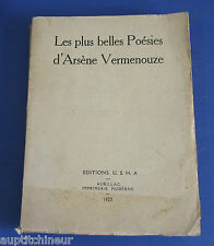 Les plus belles poésies d'Arsène Vermenouze. Aurillac, Editions U.S.H.A,1923