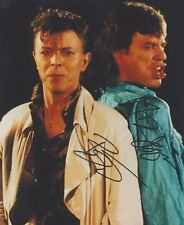 "Mick Jagger & David Bowie ""Dancing in the Street"" RARE DUEL-SIGNED RP 8X10 WOW!!"