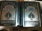 Bicycle Prestige Poker Playing Cards 2 Case Decks Red & Blue 100% Plastic New