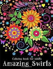 Coloring Book for Adults Amazing Swirls Animals Floral Kids Relax Art Drawing