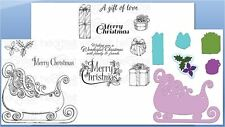 Heartfelt Creations Stamp/Die Combo ORNATE SLEIGH & PRESENTS Celebrate theSeason
