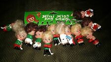 VINTAGE SL MINI MISS KEY CHAIN FULL SET LOT OF 12 ON ORIGINAL STORE DISPLAY CARD