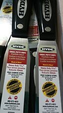 """Hyde Tools 1 5/16"""" Stiff Chisel Black & Silver Putty Knife Pack of 5 PN 022"""