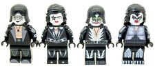 Custom Minifigures Kiss American Rock Band Members Printed on LEGO Parts