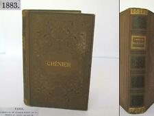 1883 ANTIQUE FRENCH HARDCOVER BOOK – POETRY BY ANDRE CHENIER