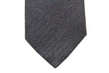 Battisti Tie Charcoal grey chevron weave, pure wool