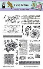 Fancy Patterns Clear Unmounted Rubber Stamp Set 22 Stamps HOTP 1198 Sayings New