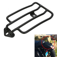 Black Solo Seat Luggage Rack Carrier For Harley Sportsters XL883 1200 2004-2016