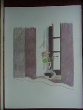 David Hockney RA Plate Signed print POP ART Rose in a Window - Most Destroyed