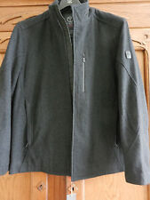 NWT! TUMI T-TECH MEN *MEDIUM* CHAR GRAY WOOL  JACKET COAT #8T-6020 PM MSRP $295