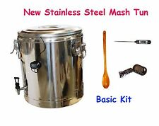 Brand New 35L Stainless Steel HomeBrew All Grain Mash Tun Basic Setup
