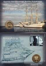 ■■■ Poland 2005 2 Zlote SAILING BOAT Żaglowiec Coin History in Blister UNC ■■■