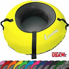 Heavy Duty Snow Sled Tube Neon Yellow Cover Huge Rubber Inner Sledding Ski Tubes