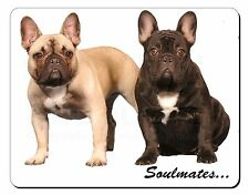 French Bulldogs 'Soulmates' Sentiment Computer Mouse Mat Christmas Gif, SOUL-31M