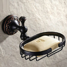 Flower Carving Oil Rubbed Bronze Bath Wall Mount Soap Dish Holder