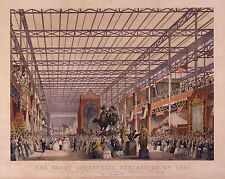 The Great Industrial Exhibition of 1851 by Joseph Nash, Art Print 10x8 inches
