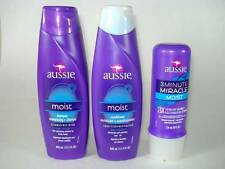 3-Pack AUSSIE Moist Hair Shampoo & Conditioner & '3-Minute Miracle' Treatment