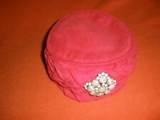 Vintage ladies red hat with pin