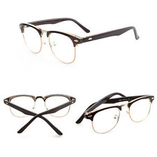 Fashion Vintage Retro Half Frame Clear Lens Glasses Nerd Geek Eyewear Eyeglasses