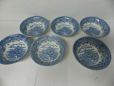 Salem China Co Olde Staffordshire English / Colonial Village Fruit  Bowls s/ 6