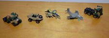 VINTAGE MICRO MACHINES LOT OF 5 MILITARY VEHICLES JETS TRUCKS GALOOB 1980'S TOYS