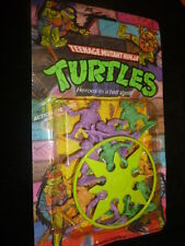 VINTAGE RARE TMNT TURTLES HEROES IN A HALF SHELL ACTION FIGURES WITH WEAPONS MIC
