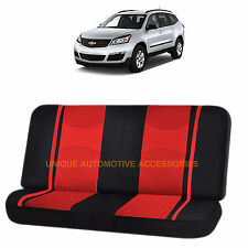 RED & BLACK POLY MESH NET 2PC SPLIT BENCH SEAT COVER for CHEVROLET TAHOE 1500