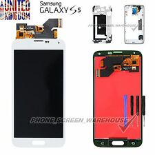 FOR SAMSUNG SM-G900F GALAXY S5 SCREEN AMOLED FHD LCD DISPLAY ASSEMBLY WHITE UK