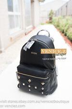 BNWT GUESS Stud Small Backpack Shoulder Bag Black Cognac