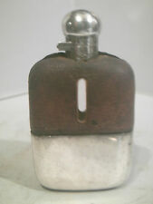ANTIQUE JAMES DIXON & SONS HIP FLASK TWIST LOCK