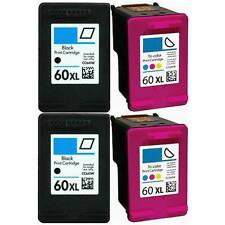 4 Pack Compatible 60XL Black+Tri-Color Ink Cartridge for HP Deskjet D1660 F2480