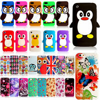 Printed Silicone Rubber Gel Case Cover For Apple iPhone iPod With Free Guard+PEN
